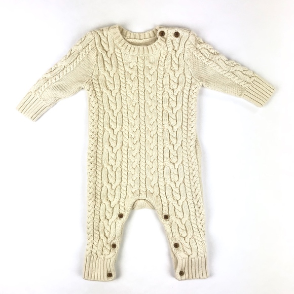 59890c3d74a5e Gap One Pieces | Baby 36 Month Cable Knit One Piece Sweater | Poshmark
